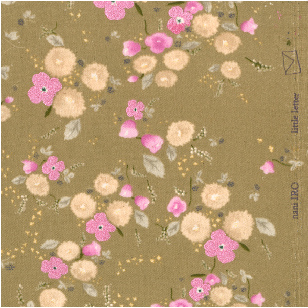 nani iro kokka fabric little letter gold [unusual fabrics, unique fabric, unusual fabric]